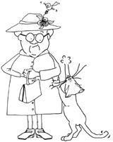 Kitty Cuddles Likes Gran's Hat