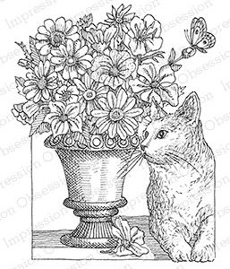 Vase Kitty Butterfly