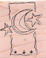Mond- und Sterne-Skizze