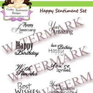Happy Sentiments Set