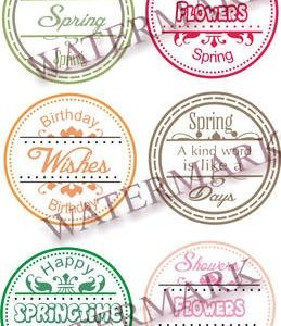 Spring Circle Sentiment Set 2