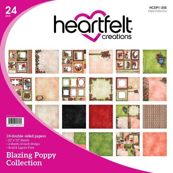 Blazing Poppy 12x12