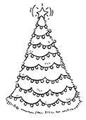 Snowflake Grove Decorated Tree