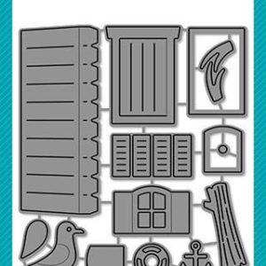 Scalloped Treat Box Add-On - Beach House