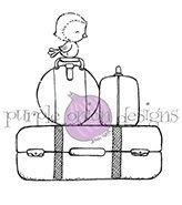 Luggage Set (Stacked Luggage with Bird)